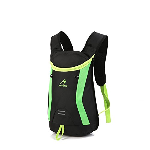 WTUS Unisex Reittasche Outdoor Sport Rucksack Schultertasche Wanderrucksäcke für Wandern Trekking Camping Klettern Grün