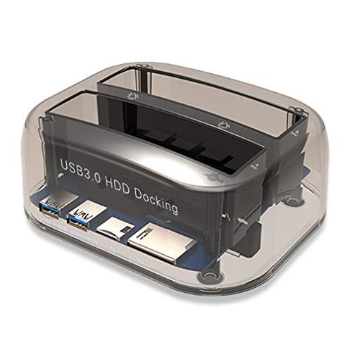 Preisvergleich Produktbild USB 3.0-zu-SATA-Dual-Bay-Festplattenlaufwerk-Dockingstation für 2, 5 / 3, 5-Zoll-HDD-SSD