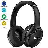 mpow h19 ipo casque à réduction de bruit active,casque bluetooth 5.0,casque audio avec technologie