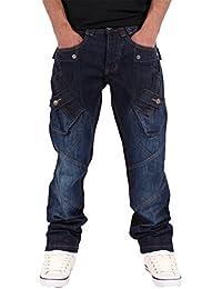 Unknown - Jeans - Droit - Homme bleu bleu