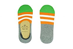 The Tie Hub Mens Cotton Aero Stripes Grey Loafer Socks