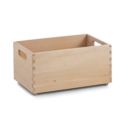 zeller-13306-cajon-multiusos-de-madera-de-haya-barnizada-30-x-20-x-15-cm