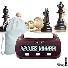 lingye Reloj de ajedrez, Temporizador Profesional de ajedrez Pantalla de precisión Digital de Alta definición