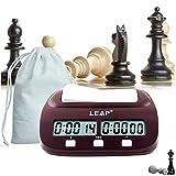 lingye Reloj de ajedrez, Temporizador Profesional de ajedrez Pantalla de precisión Digital de Alta definición, Certificación Fide, Compra Disponible (Chess Clock * 1 y Bolsa * 1)