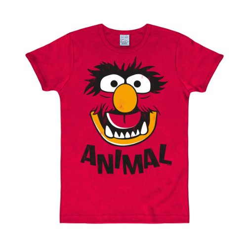 Con logo T-Shirt MUPPETS - ANIMAL red