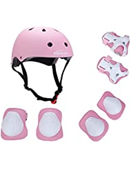 Kamugo enfants Youth réglable Sports équipement de protection de sécurité Pad SafeGuard (casque genou Coude poignet) Roller Vélo BMX Vélo Skateboard Hoverboard et autres activités de sports extrêmes