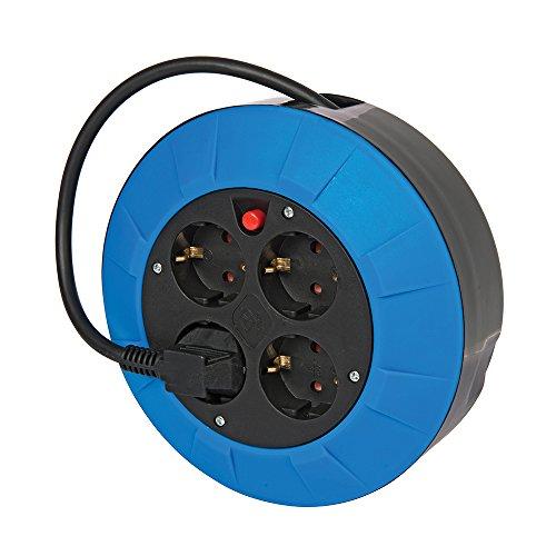 Preisvergleich Produktbild Power Master 727011 Kabeltrommel ohne Gestell, Steckertyp F (Schukostecker) 4 Steckdosen, 5 m Kabellänge