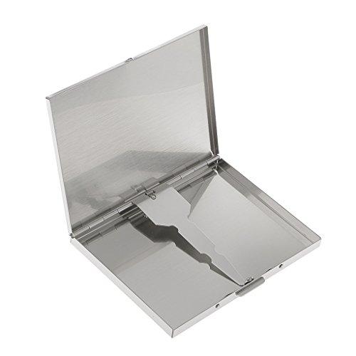 Étui Porte-cigares Boîte Boitier Conteneur Distributeur Housse Organiseur Rangement Case Holder en Métal 10 x 7.5cm Accessoire Voyage Cadeau pour Homme