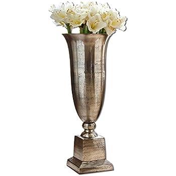 vase bodenvase aluminium rustikal metall pokal shabby antik silber ca 86cm. Black Bedroom Furniture Sets. Home Design Ideas