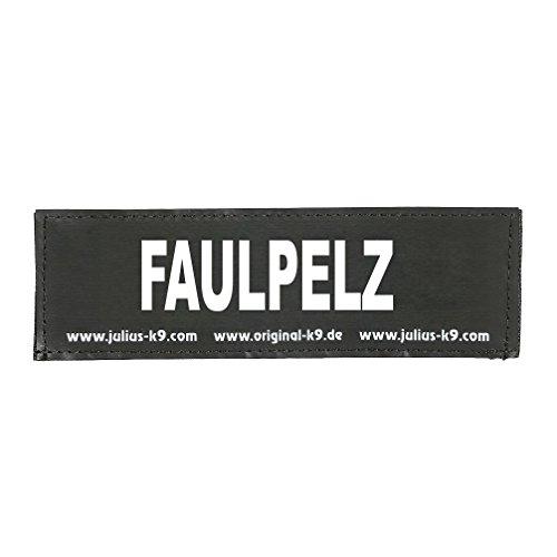 Julius-K9 162LR-G-47490 Klettaufschrift, FAULPELZ, schwarz