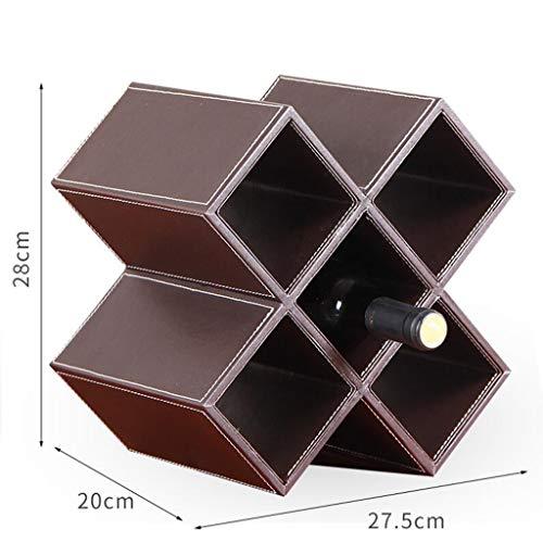 Weinregal Massivholz Home Kreative Weinflasche Schrank Dekoration Rack Multi-Grid (Braun) (größe :...