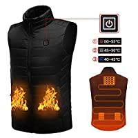 Baiwka Electric Heated Vest for Women and Men, Washable USB Powered Heated Clothing Winter Warm Gilet for Motorcycle Skiing Snowmobile Bike Riding Hunting Golf