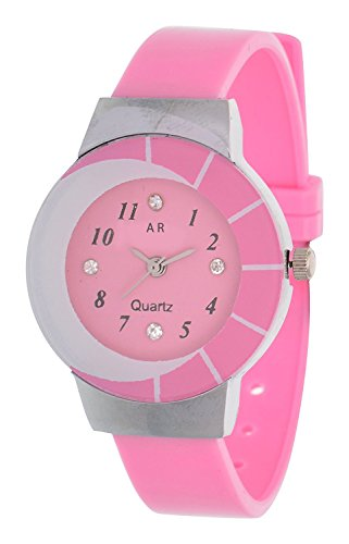 A R Sales Analog Pink Dial Women's Watch - AR0024