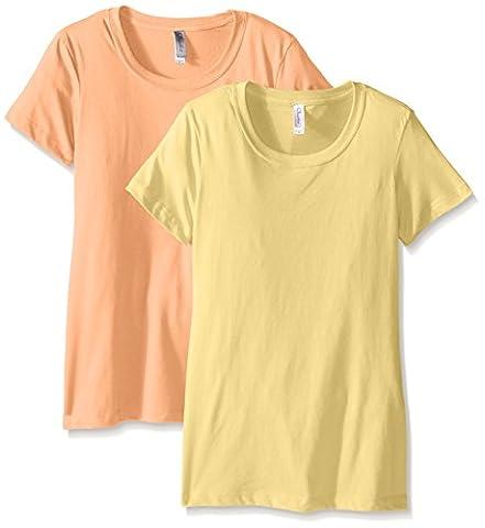 Clementine femmes de Petite Plus Idéal col ras du cou pour homme (Lot de 2) XXL Banana Yellow/Light Orange