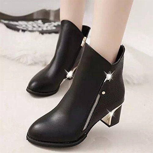 Vovotrade scarpe donna con tacco, scarpe da donna lunghe sexy Nero
