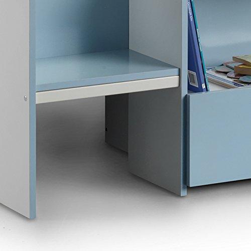 Happy Beds Cabin Bed Low Sleeper Blue Storage Kids Orthopaedic Mattress 3' Single 90 x 190 cm
