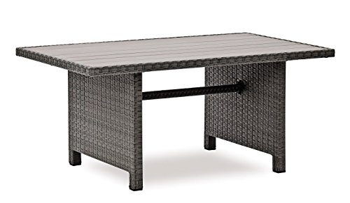 Hohe Dinning Poly Rattan Lounge inkl. Kissen
