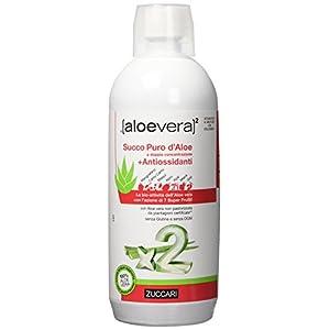 Zuccari Aloevera 2 Succo Puro d'Aloe a Doppia Concentrazione e Antiossidanti, 1000 ml