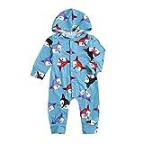 Neugeborenes Baby-mit Kapuze Fox-Druck-Spielanzug-Lange Hülsen-Overall-Kinderkleidung
