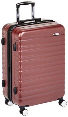AmazonBasics - Trolley rigido Premium con rotelle pivotanti e lucchetto TSA integrato - 68 cm, Rosso