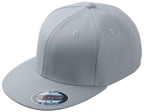 Myrtle Beach Uni Cap Flexfit Flatpeak, lightgrey, L/XL, MB6184 lgr