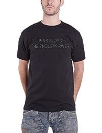 Pink Floyd T Shirt The Endless River Logo offiziell Herren Nue Schwarz