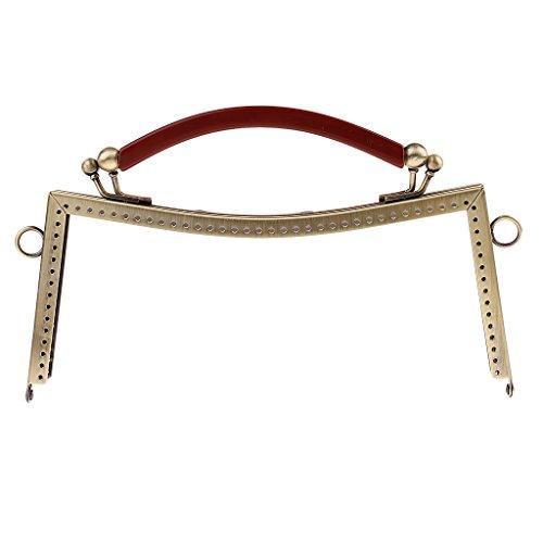 Sharplace Metall Clip Griff Taschenverschluss Taschengriff Taschenzubehör für Damen Münzbörse Handtaschen Geldbörsen - Stil 2-Antik Messing