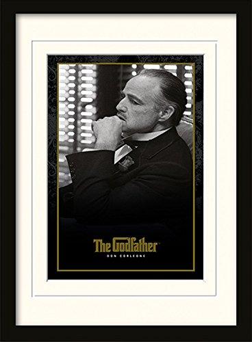 Preisvergleich Produktbild 1art1 102067 Der Pate - Don Corleone Gerahmtes Poster Für Fans Und Sammler 40 x 30 cm