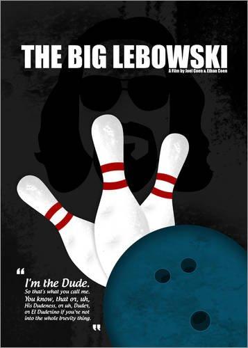 Poster 30 x 40 cm: The Big Lebowski - Minimal Movie Film Cult Alternative di HDMI2K - stampa artistica professionale, nuovo poster artistico