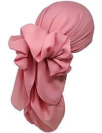 Bufandas bambú cuadrado cabeza para pérdida de cabello (1 m x 1m)–Bufandas suaves lisas para mujeres