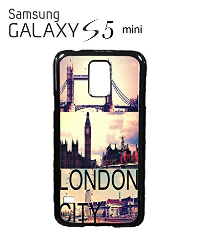 London City Big Ben Tower Brigde Retro Cool Funny Hipster Swag Mobile Phone Case Back Cover Hülle Weiß Schwarz for Samsung Galaxy S5 Mini Black