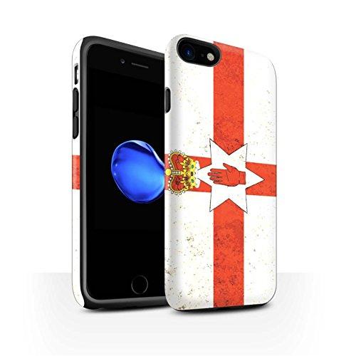 STUFF4 Matte Harten Stoßfest Hülle / Case für Apple iPhone 6 / Albanien/Albanisch Muster / Flagge Kollektion Nordirland/Irische