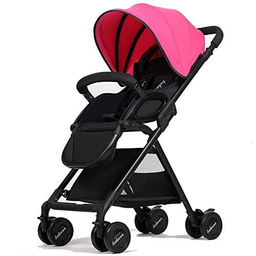 DQZLFYH Kinderwagen Falten tragbare stoßdämpfer Baby 0-3 Jahre alt Hand schieben Regenschirm Sonnenschirm Regen kann Sich hinsetzen können Legen,B