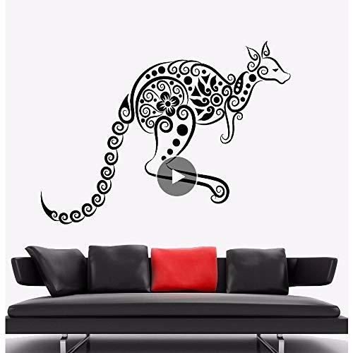 Qthxqa Wandaufkleber Känguru Tier Vinyl Wandtattoo Australien Ornament Wandkunst Wandhaupt Wohnzimmer Dekor Känguru Vinyl Kunst ()