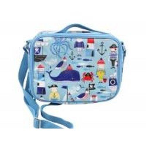 Gisela Graham Blau PVC Pirates Lunch Bag mit Schiffe und Haie - Graham Spa