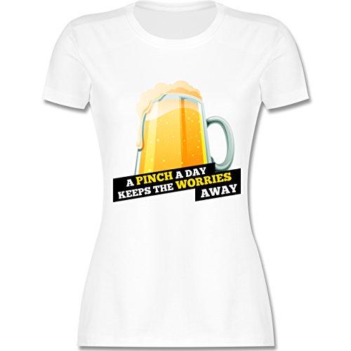 St. Patricks Day - A Pinch a Day St Patricks Day - Damen T-Shirt Rundhals Weiß