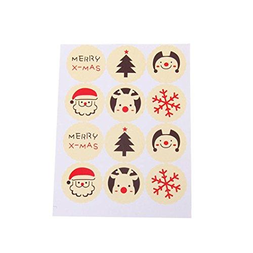 Yukong 5 x Weihnachts-Süßigkeiten-Hintergrund abnehmbare Aufkleber für Party, Kekse, Backen, Kekse, Geschenk, DIY Dekoration