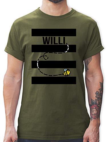 Karneval & Fasching - Bienen Kostüm Willi - XL - Army Grün - L190 - Herren T-Shirt und Männer Tshirt (Honig Bienen Kostüme Für Babys)