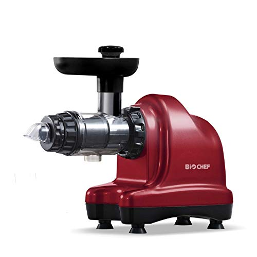 Biochef Axis Cold Press - Extractor de zumo, color rojo