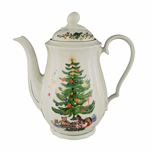 Seltmann Weiden 001.297529 Marieluise Weihnachten Kaffeekanne 1,3 L, Grün/Bunt