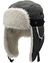 Liny Chapka Homme Impermeable - Unisexe Chapka Trappeur Russe d hiver  Bonnet Aviateur avec Masque 8b8c746f222
