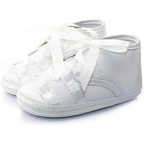 pattini del bambino, Kingko® Soled molli delle neonate Scarpe nuova neonata principessa bianca anti-slittamento dei pattini appena nati del bambino Casual Shoes