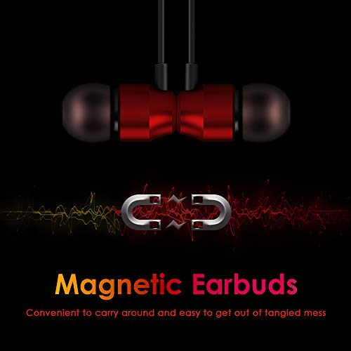 PALOVUE Earflow In-Ear Lightning Kopfhörer Magnetischer MFi-zertifizierter Kopfhörer mit Mikrofon-Controller Kompatibel mit iPhone X / XS / XS iPhone 8/P iPhone 7/P (Metallic Rot) - 6