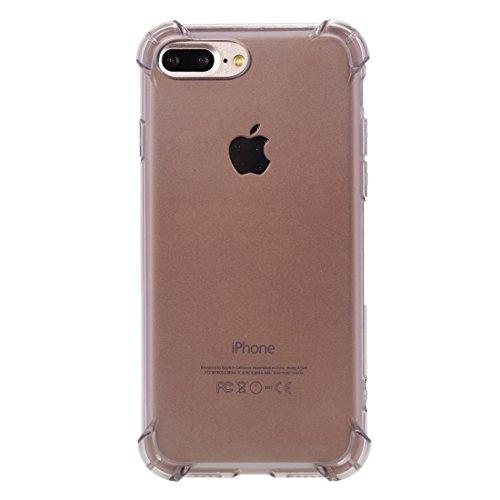Hülle für iPhone 7 plus , Schutzhülle Für iPhone 7 Plus Trennbarer galvanisierender Spiegel Push Pull PC Schutzhülle Back Shell Cover + Metal Stoßfänger ,hülle für iPhone 7 plus , case for iphone 7 pl Black