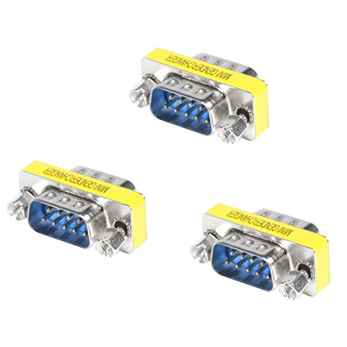 Top-Longer 3 Stück Gender Changer D-SUB 9 pol. Stecker auf 9 pol. Stecker DB9 RS232 Seriell Gender Konverter Stecker