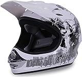 Actionbikes Motors Motorradhelm X-Treme Kinder Cross Helme Sturzhelm Schutzhelm Helm für Motorrad Kinderquad und Crossbike (Weiß, S)