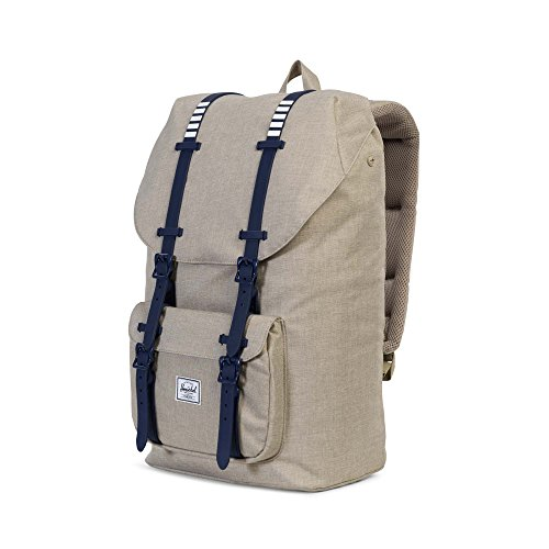 Little America Backpack light khaki beige/blue