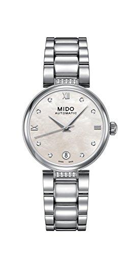 Mido Damen Analog Automatik Uhr mit Edelstahl Armband M0222076111611