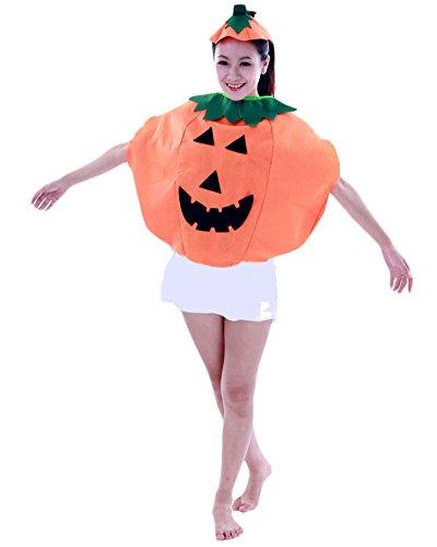 Lustige Kinder Halloween Laterne Gesicht Kürbis Kostüm Kinderkleidung mit Kürbis-Tasche (Für Kostüme Erwachsene Kürbis Süße)
