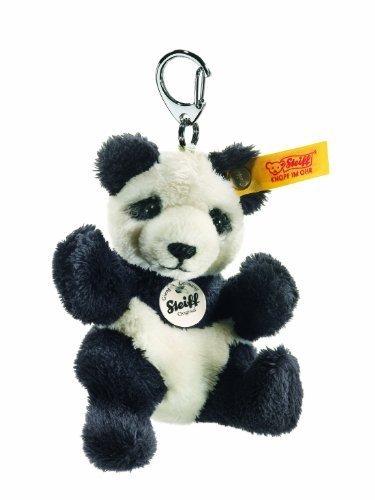 Steiff 9cm Panda Keyring (Black/ White) by Steiff